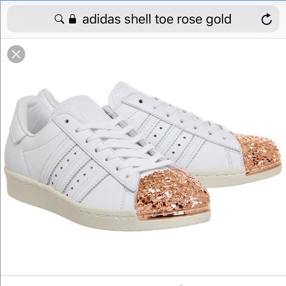 adidas superstar rose gold kids